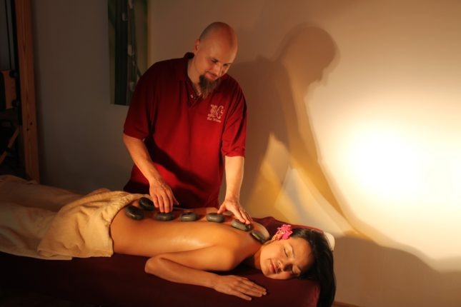 massage stenen
