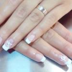 nagels met wit randje