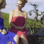 Handdoek met elastiek: ideaal voor een dagje sauna