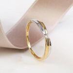 bicolor diamanten ring