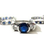 trouwring blauwe steen