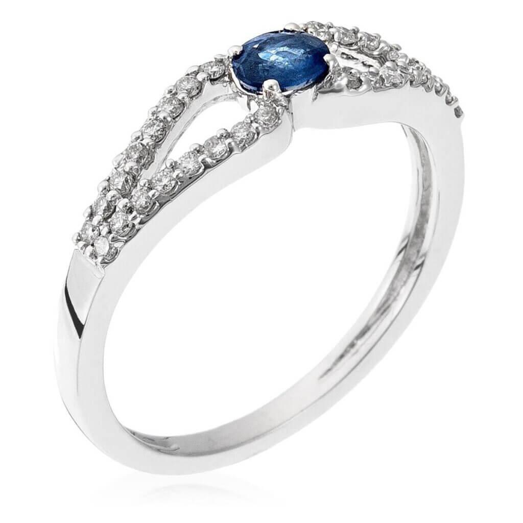 trouwringen met blauwe saffier